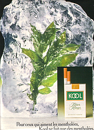 1974 FRENCH KOOL Filter Cigarettes AD France (Image1)