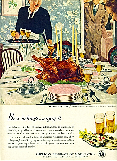 1950 - America's beverage of moderation ad (Image1)