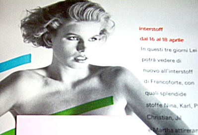 1983 ITALIAN Interstoff NUDE Woman AD (Image1)