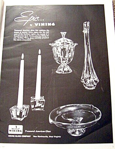 1967 Viking Glass Epic Pattern Ad Norse