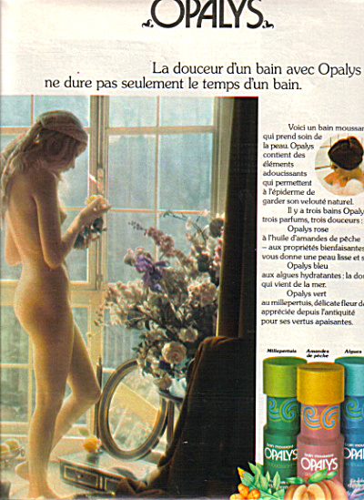 1974 FRENCH Opalys Nude Beauty Bain Moussant (Image1)