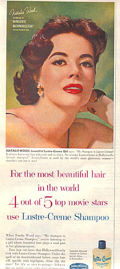 1958 NATALIE WOOD Lustre-creme Marjorie AD (Image1)