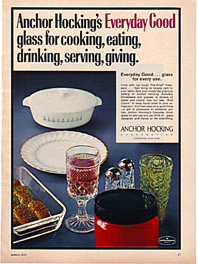 1970 Anchor Hocking Wexford - Milk Glass AD (Image1)