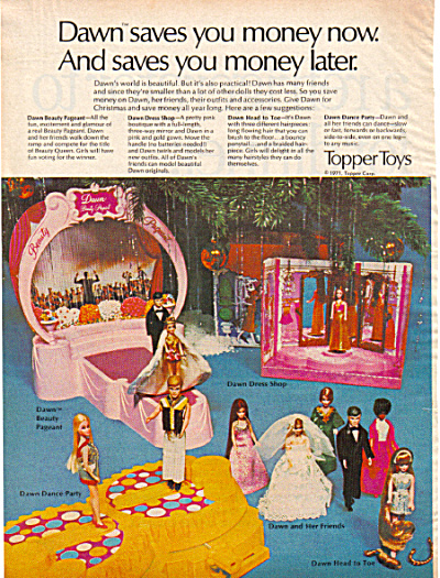 1971 Topper DAWN Doll and Friends AD (Image1)