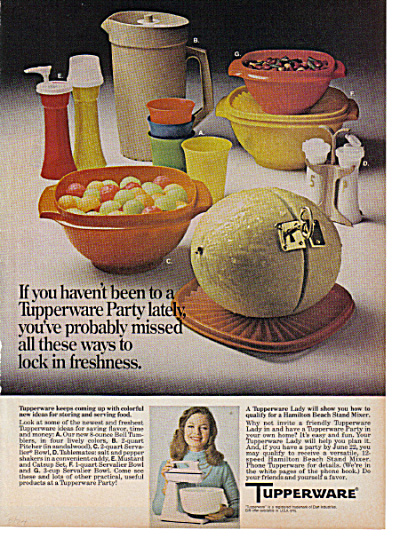 1974 Tupperware Servalier - Tablemates +++ AD (Image1)