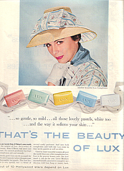 1958 LUX SOAP - Actress ERIN O'BRIEN AD (Image1)