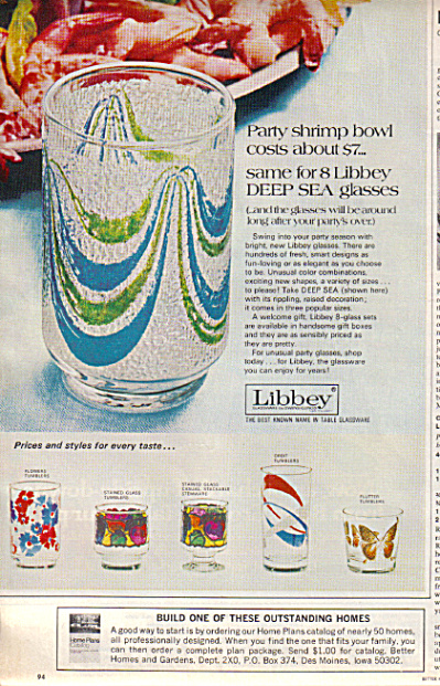 1971 Libbey Deep Sea - Orbit ++ Tumbler Glass