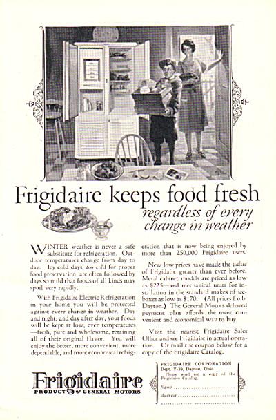 1927 FRIGIDAIRE GM Refrigerator ICEBOX AD (Image1)