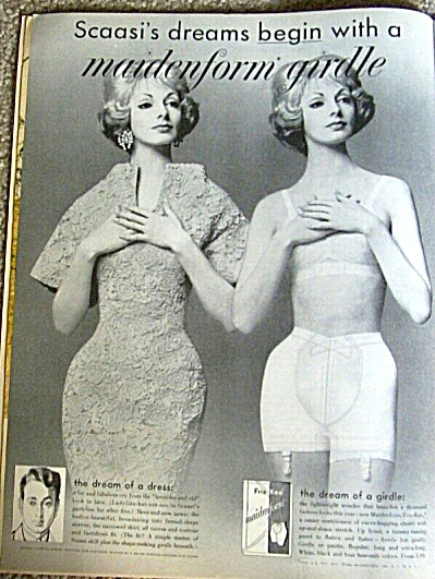 1960 SCAASI designed MAIDENFORM GIRDLE AD (Image1)
