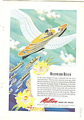 Matson Lines ad 1944 SHIP WESTWARD REACH (Image1)