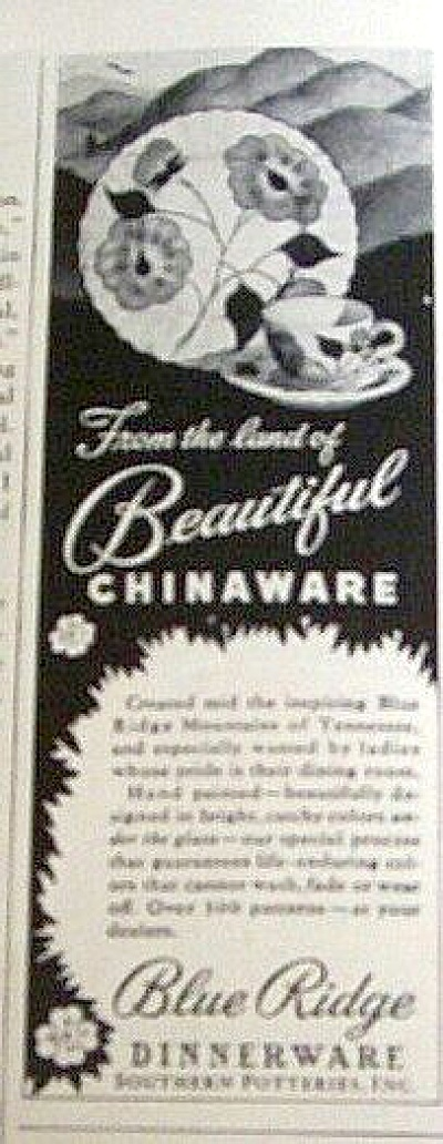 1948 BLUE RIDGE Southern Potteries AD (Image1)