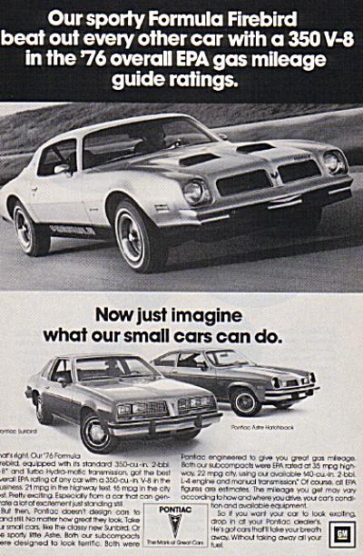 1976 Pontiac FORMULA FIREBIRD 350 V8 Car AD (Image1)