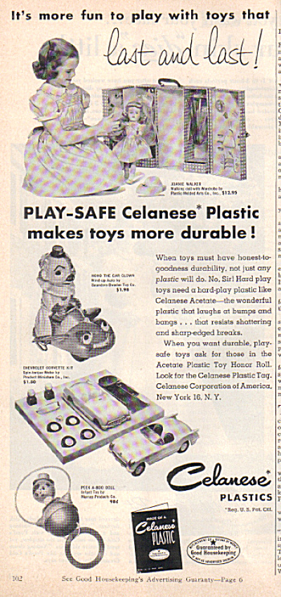 1954 JOANIE WALKER PMA DOLL AD w/ Wardrobe (Image1)