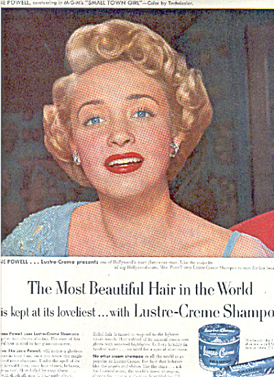 1953 JANE POWELL Lustre Creme Beauty AD (Image1)