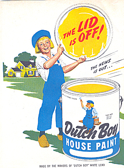 1947 DUTCH BOY White LEAD Paint AD 2 pg. (Image1)