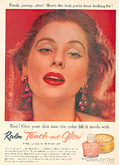 1957 REVLON SUZY PARKER Make Up AD (Image1)