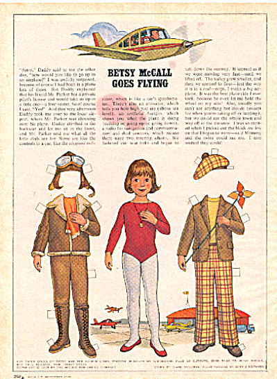 1978 BETSY McCALL Goes FLYING Paperdoll UNCUT (Image1)