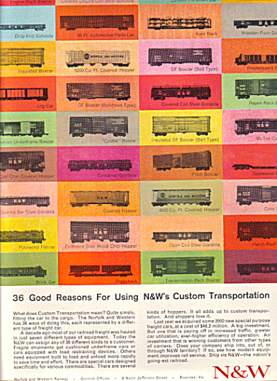 1964 Norfolk - Western 36 Boxcar Car AD TRADE (Image1)