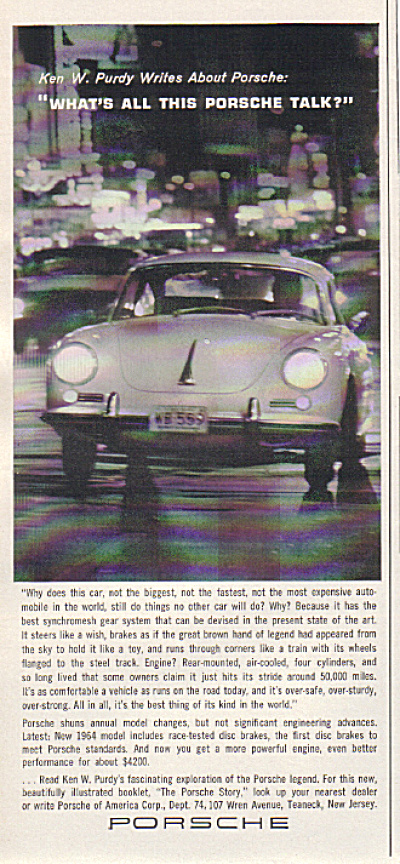 1964 PORSCHE ORIGINAL $4200 CAR AD (Image1)