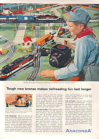 1956 Anaconda LIONEL TRAINMASTER ZW Train AD (Image1)