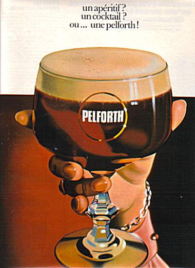 1974 French Pelforth Aperitif Cocktail Ad