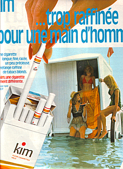 1974 FRENCH KIM Cigarettes France AD (Image1)