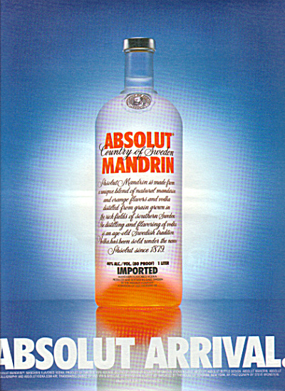 Absolut Arrival Large Mandrin Ad
