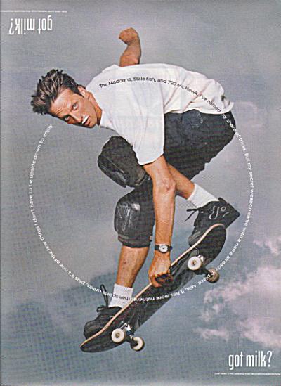 GOT MILK Skateboard AD featuring TONY HAWK (Image1)
