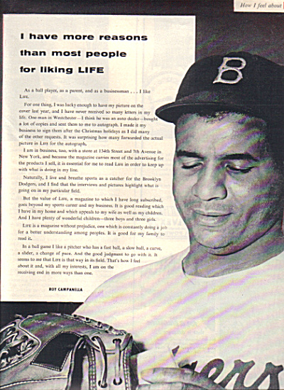 1954 ROY CAMPANELLA Brooklyn Dodgers AD (Image1)