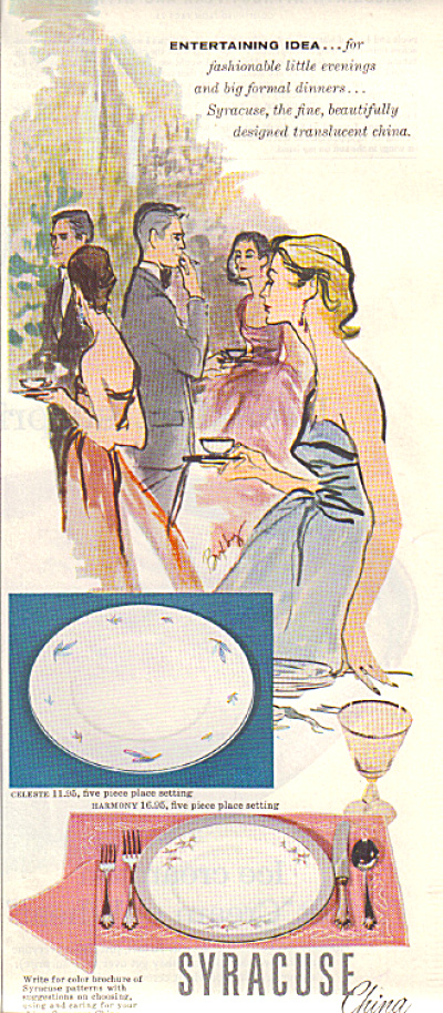 1957 Syracuse China CELESTE - HARMONY AD (Image1)