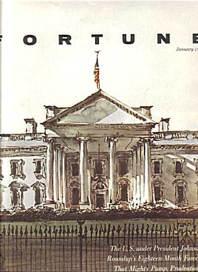 1964 White House Washington Framable Cover