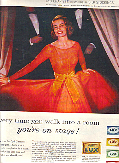 1957 CYD CHARISSE LUX Soap Actress AD (Image1)