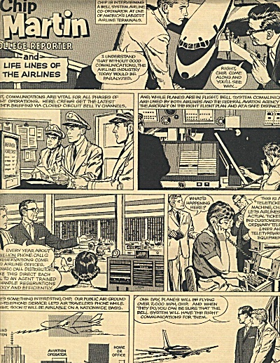1961 Chip Martin Cartoon Bell Telephone Ad