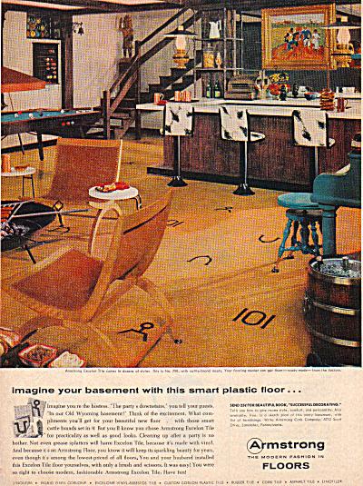 1957 Armstrong Excelon ASBESTOS Western Bar AD (Image1)