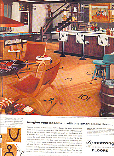 1957 Armstrong Excelon ASBESTOS Western Bar A (Image1)
