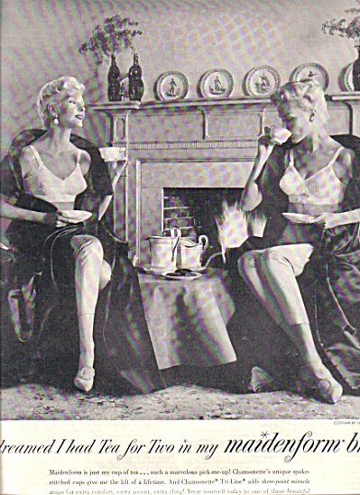 1957 MAIDENFORM I Dreamed .. Tea 4 TWO AD (Image1)