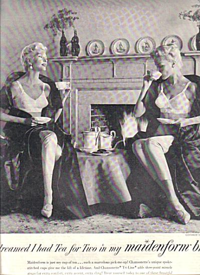1957 MAIDENFORM I Dreamed .. Tea 4 TWO AD (Image1)