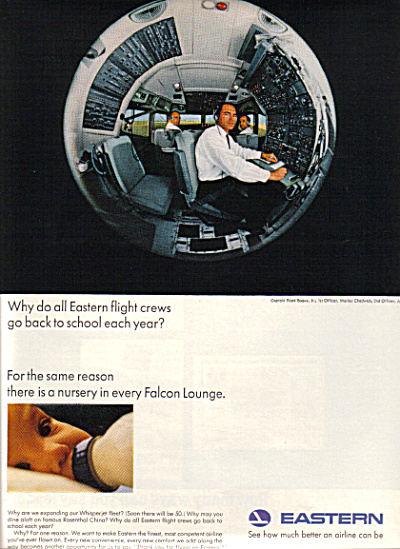 1965 EASTERN AIRLINES Flight Crew Baby AD (Image1)