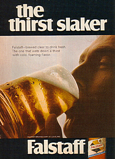 1968 FALSTAFF The Thirst Slaker BEER AD (Image1)