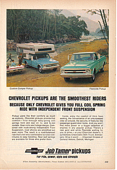 1968 Chevrolet FLEETSIDE Pickup Truck AD (Image1)