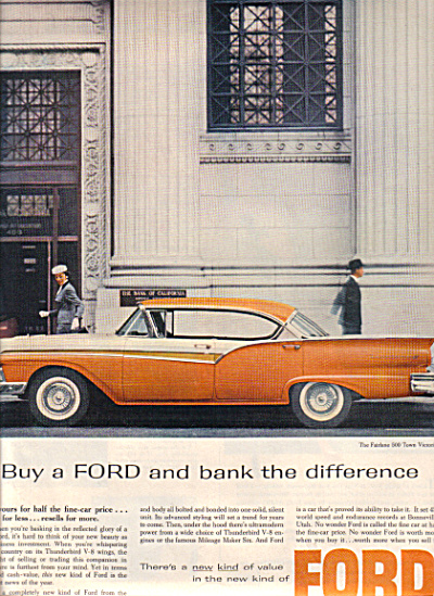 1957 Ford Fairlane 500 Town Victoria Car AD (Image1)