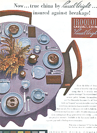 1951 IROQUOIS RUSSEL WRIGHT Casual China AD (Image1)