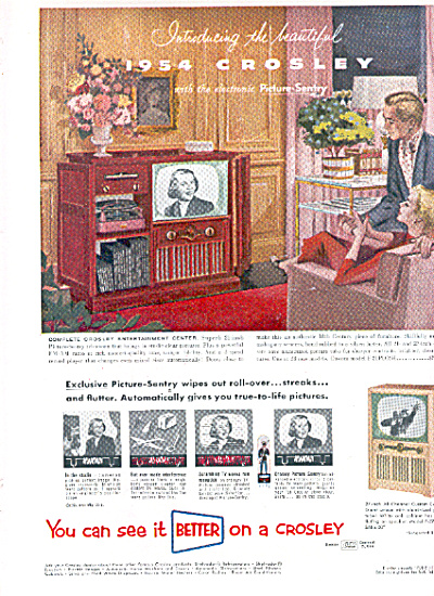 1954 CROSLEY Picture Sentry Television TV AD (Image1)
