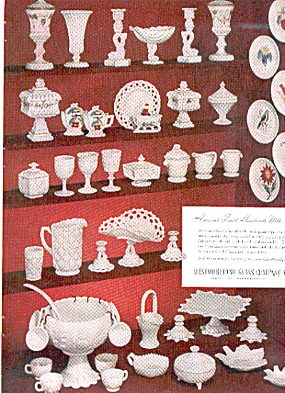 1953 Westmoreland MILK GLASS Patterns AD (Image1)