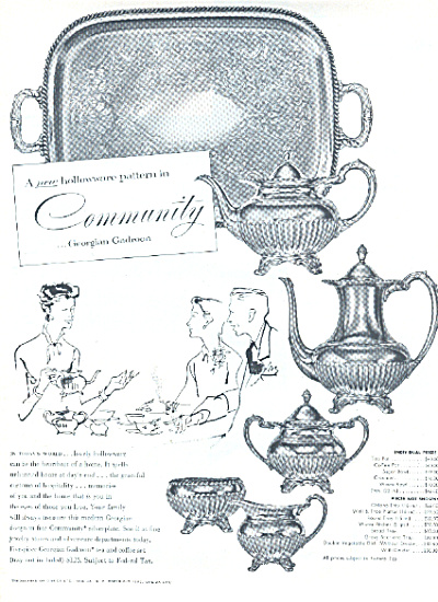 1953 Community GEORGIAN GADROON Pattern AD (Image1)