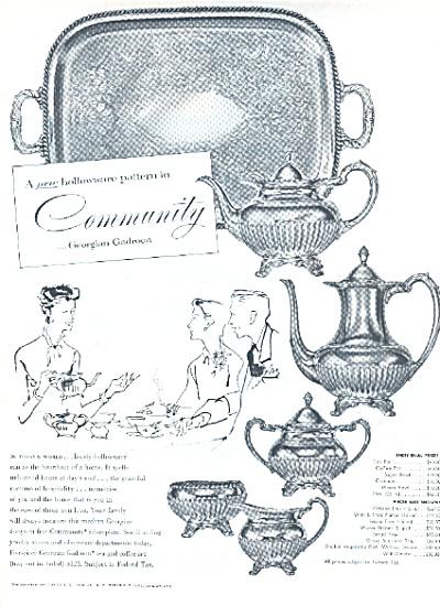 1953 Community GEORGIAN GADROON Pattern AD (Image1)
