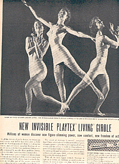 1948 Platex LIVING Girdle - Bra Dancing AD (Image1)