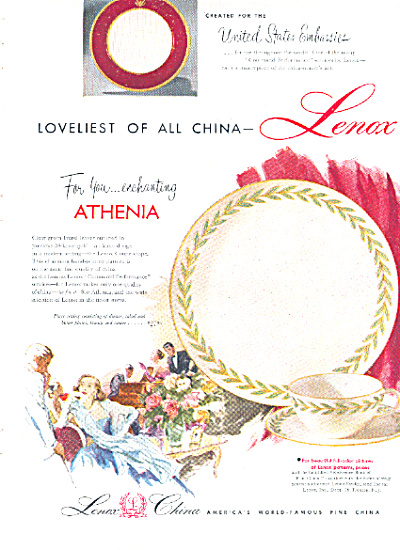 1953 Lenox China ATHENIA - Pattern AD (Image1)