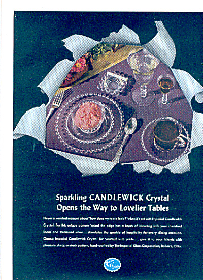 1951 IMPERIAL GLASS Candlewick Pattern AD (Image1)