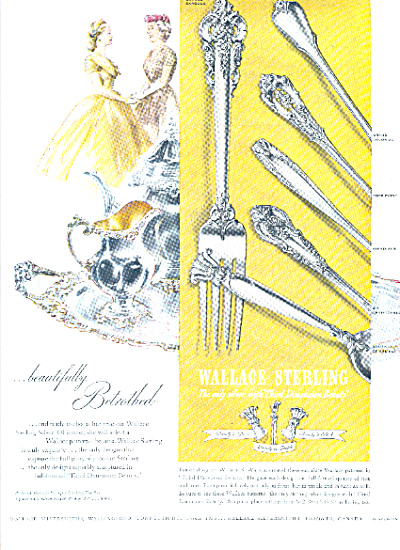 1951 Wallace Sterling Silver Silverware Ad 6